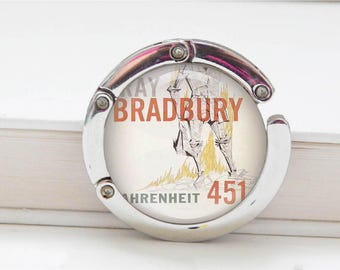 Fahrenheit 451 Book purse hook, book worm gifts, book lovers, bookish, literature