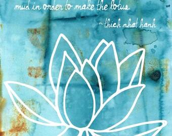 Mud Lotus | Yoga Art Print