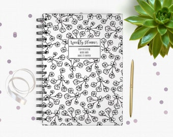 Weekly Planner - A5 - Weekly Schedule - Undated - Wild Flower Design