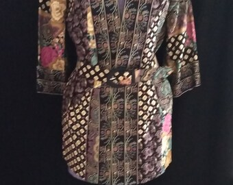 Vintage Rayon Kimono Jacket, Lady Carol of New York