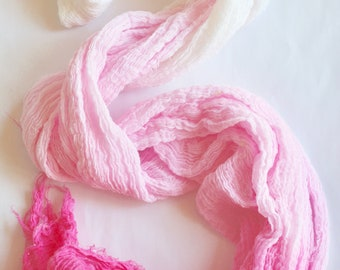 Pink ombre table runner, ombre pink tapestry, eco friendly + hand dyed, created with pure joy, wedding decor, party decor