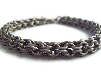 Steel Chainmaille Bracelet - Men's Stainless Steel Bracelet
