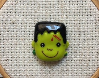 Frankenstein Needle Minder - Halloween Magnet for Cross Stitch - Frankenstein Cross Stitch Magnet - Halloween needle Minder