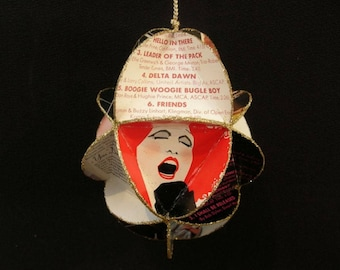 Bette Midler Album Cover Ornament Made Of Record Jackets