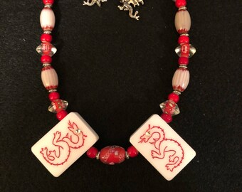 Two Cultures Necklace with Earrings