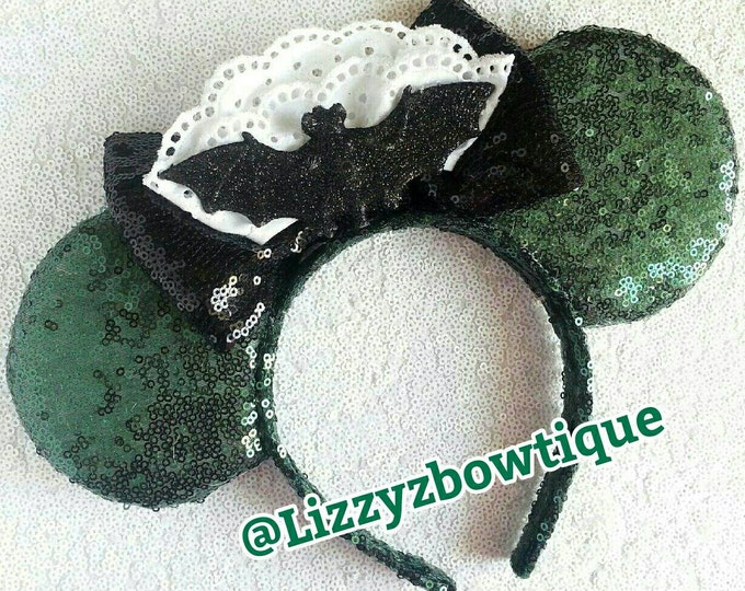 Haunted Mansion Sequin Minnie ears