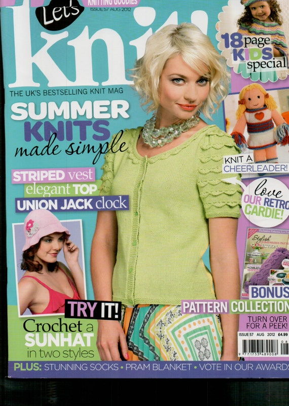Let's Knit Knitting Magazine Issue 57 August 2012