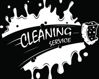 Cleaning Logo #46 Maid Service Housekeeper Housekeeping Clean Floor Mop Mopping.SVG .EPS .PNG Digital Clipart Vector Cricut Cutting Download