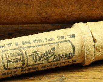 Antique Wooden Boye Brand Needle Container  - Rustic Primitive Seamstress Dressmaker