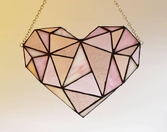 Digital Pattern Geometric Heart (physical leadlight is seperate listing)