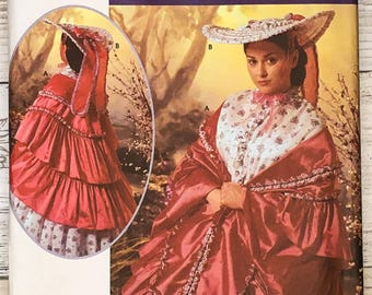 Simplicity 5444 UNCUT Misses' Civil War era Mantle and Hat One Size