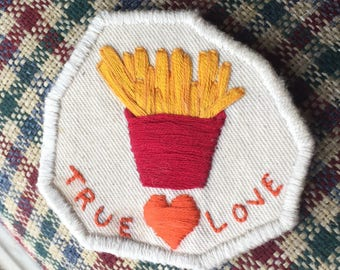 True Love French Fry Iron On Patch