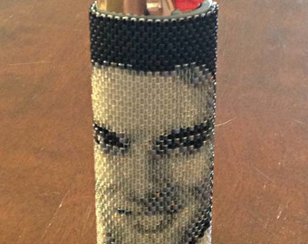 Elvis Lighter Cover Pattern - Peyote Pattern - Lighter Cover Pattern