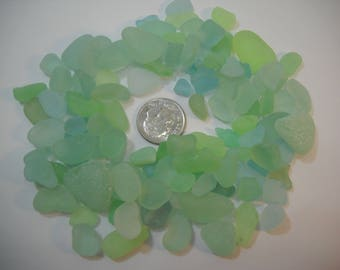 2.8 Oz. Genuine Seafoam Green And Misc. Green Sea Glass From Pacific Northwest