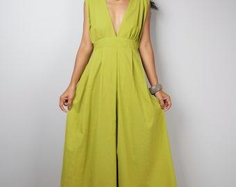 Maxi Dress - Long Olive Green dress : Oriental Secrets Collection IIs
