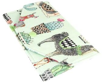 Cash Envelope Wallet - Fabric Llama Checkbook Holder - Lightweight, Slim Design - Hold Cash And Checkbook