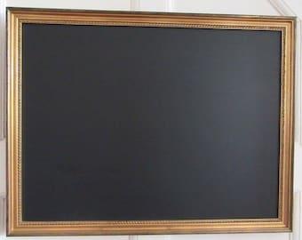 Large Vintage Detailed Gold Effect Framed Chalkboard / Blackboard / Noticeboard / Wedding