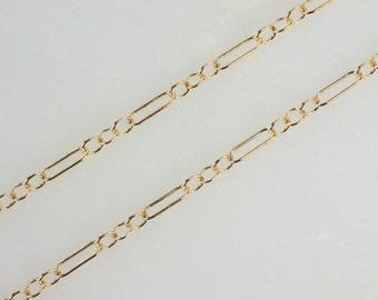 14k Gold Filled Long and Short Chain 4.7x1.6mm , Made in USA