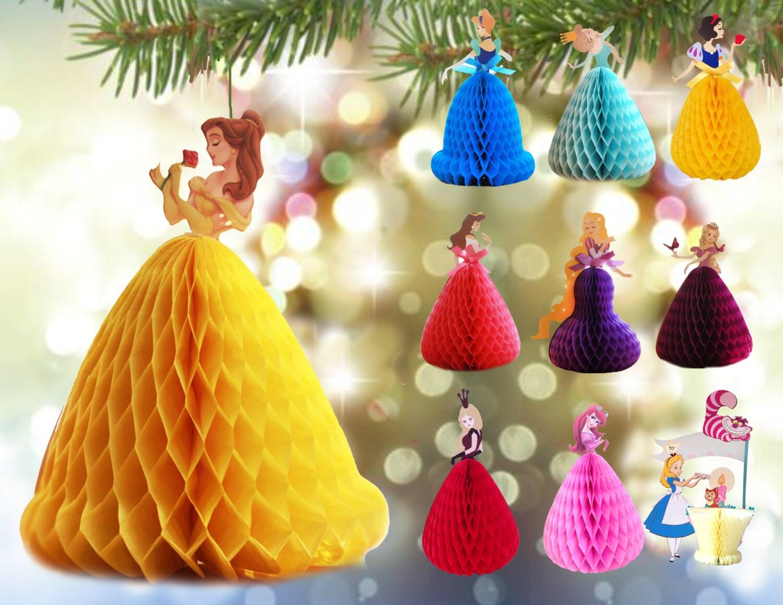 Disney Princess honeycomb Pop Up 3D Greeting Card / cake