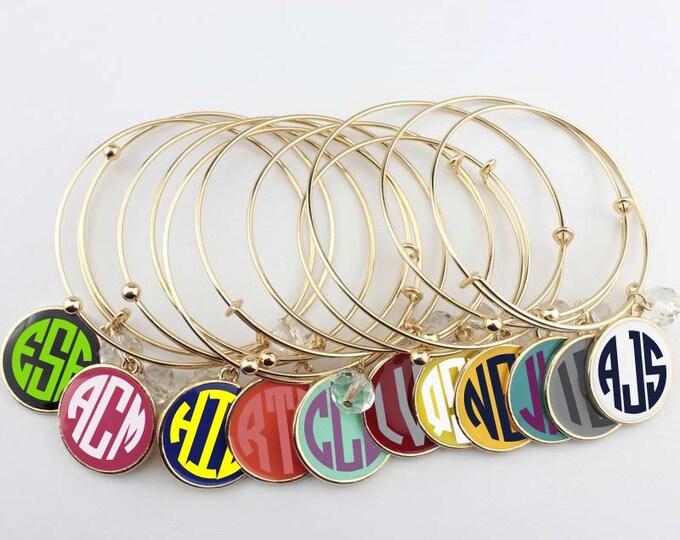 Monogrammed Expandable Charm Bracelet