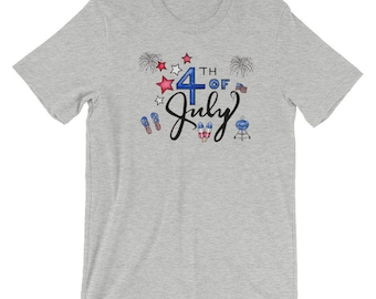 4th of July t-shirt/ Fourth of July t-shirt/ red white blue t-shirt/ July 4th/ Celebrate America T-shirt/ USA tee/ patriotic t-shirt