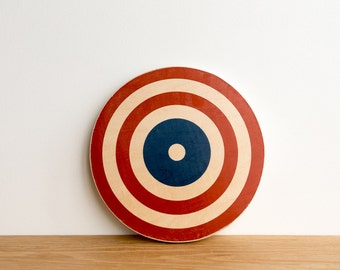 Target Circle Art Block - Red/White/Blue, American flag colors, archery target, bull's eye, colorway #13