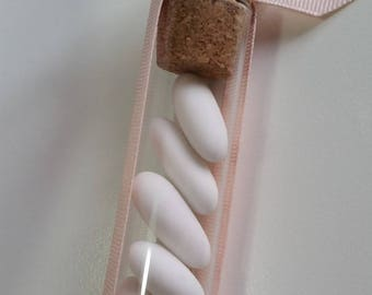 Favor in glass tube with Angel fimo