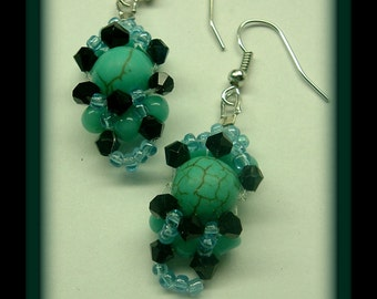 Turquoise beaded dangles (December)