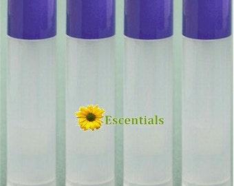 Natural Lip Balm Tube w/ Lavender Cap - 10 Pack