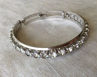 Vintage Engel Brothers, Imitation Diamond, Bracelet, Estate Jewelry, PK120