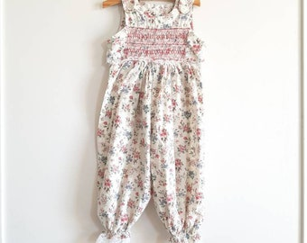 Vintage Smocked Girl's Pants