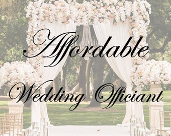 Custom Written Wedding Vows with Wedding OFFICIANT Included! (Virginia Only)