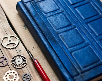 River Song's Journal  Tardis leather journal Doctor Who  journal  Tardis book Doctor Who notebook  Diary Travel journal  Blank book