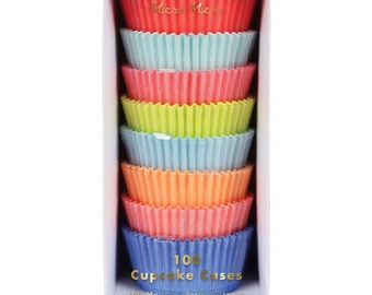 Rainbow neon cupcake wrappers