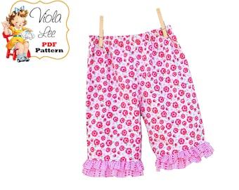 Baby Girls Ruffle Pants Pattern, Infant Ruffle Pants Pattern. Infant Sewing patterns. Baby Pants Pattern. Girls pdf Sewing Pattern. Polly