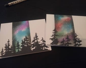 Pair of Galaxy Note cards.  Blank inside.