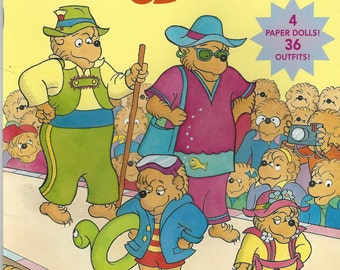 Vintage The Berenstain Bears' New Clothes Paper Doll Book, C1997