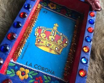 La Corona loteria shadowbox art