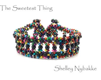 The Sweetest Thing  Bracelet DIY Kit  -  Multi-Color/Mystic Black Pearls
