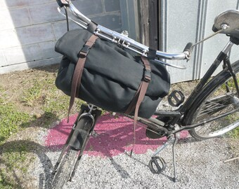 Waxed Canvas Bicycle Handle Bar and Messenger Bag