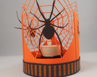 Halloween Spiderweb Lantern SVG file