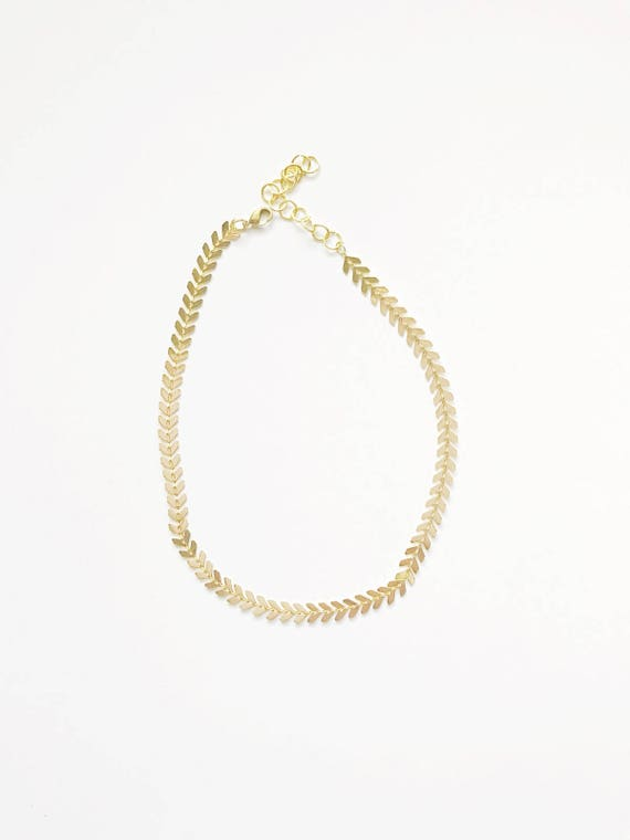 Golden Leaves Choker Necklace