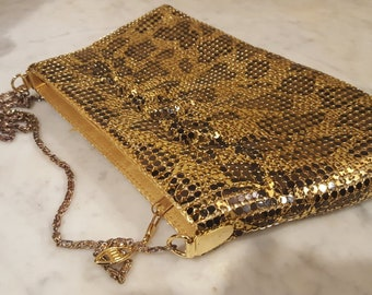 Beautiful Black and Gold Vintage Sequin Purse