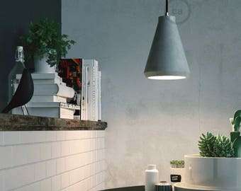 "Pendant lamp, room lamp, ""Concrete pendant"", Restaurant lighting, Bar lighting, minimalist lamp, Loft,"