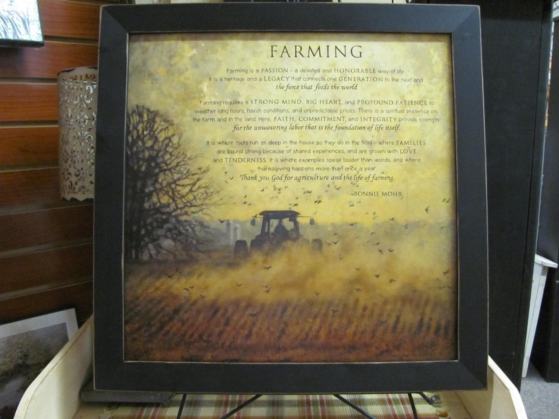Farming DecorFarmingTractor Farm PoemInspirational