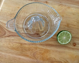 Vintage Glass Juicer & Citrus Reamer