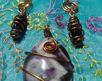 Amethyst Pendant & Earrings