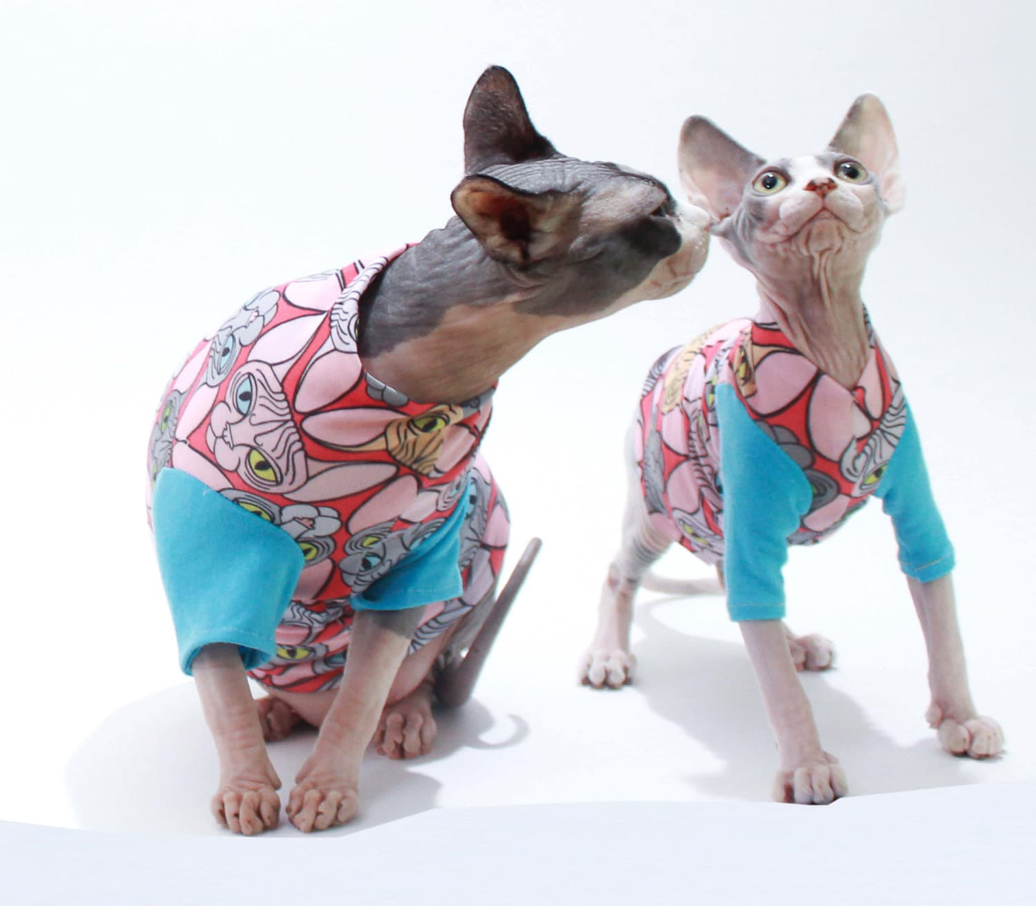 Fresh Sphynx Cat Clothes Head Hearts T-Shirt or tank top. On sale KC67