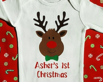 Christmas Outfit    My First Christmas Outfit Boy   baby boy christmas clothes my 1st Christmas shirt first Holiday shirt baby boy outfit