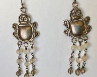 vintage sterling dangly bug earrings